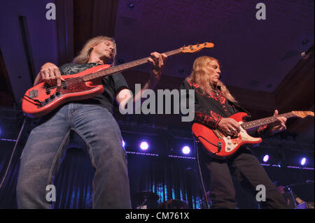 LINCOLN, CA – October 19: Country rock band The Outlaws perform at Thunder Valley Casino Resort in Lincoln, California - Stock Photo