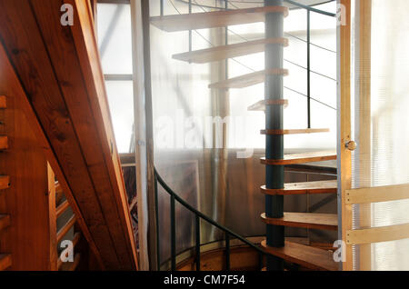 Czech architect Bohumil Lhota and his unique eco-house in Velke Hamry won the highest award in the E.ON Energy Globe - Stock Photo