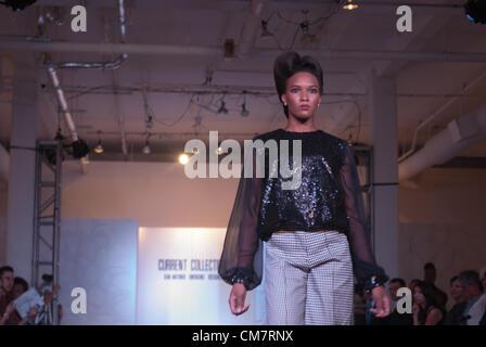23 October 2012 - San Antonio, Texas, USA - A model walks the catwalk at the Emerging Designer Fashion Show, part - Stock Photo