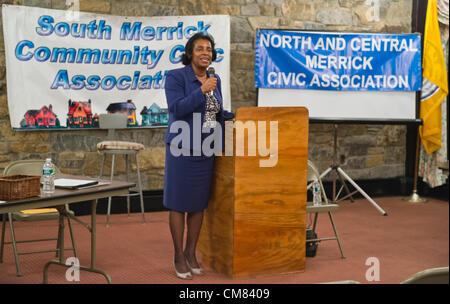 Oct. 23, 2012 - Merrick, New York, U.S. - Judge VALERIE ALEXANDER, running for re-election to District Court, spoke - Stock Photo