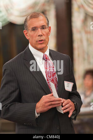 Oct. 23, 2012 - Merrick, New York, U.S. - Judge PETER B. SKELOS, New York Supreme Court Justice running for re-election, - Stock Photo