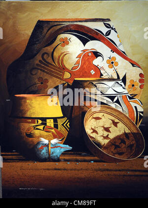 Oct. 26, 2012 - Albuquerque, NM, U.S. - Painting by Michael McCullough that was used for the 30th Weems Artfest - Stock Photo