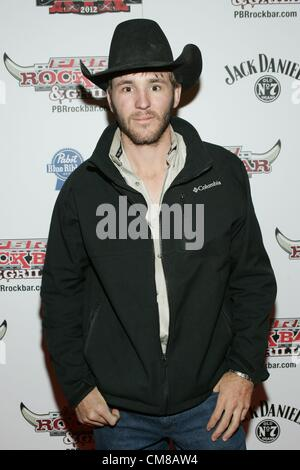 Caleb Sanderson at arrivals for Professional Bull Rider Superstars at PBR Rock Bar, Miracle Mile Shops at Planet - Stock Photo