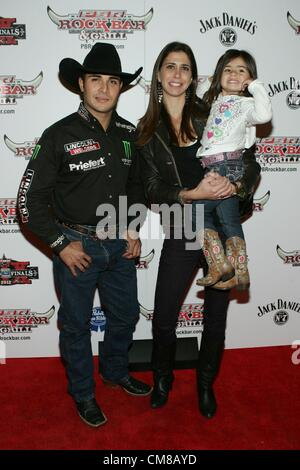 Robson Palermo, family at arrivals for Professional Bull Rider Superstars at PBR Rock Bar, Miracle Mile Shops at - Stock Photo