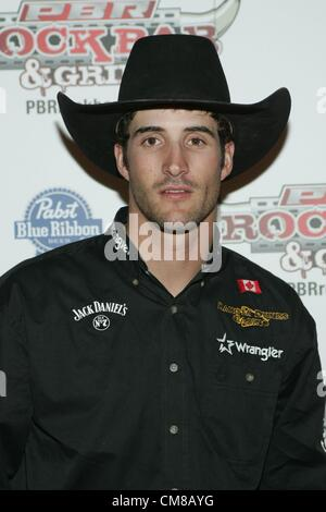 Aaron Roy at arrivals for Professional Bull Rider Superstars at PBR Rock Bar, Miracle Mile Shops at Planet Hollywood - Stock Photo
