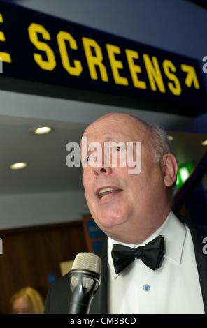 Julian Fellowes at the opening of a brand new Odeon cinema in Dorchester, Dorset, UK. He was guest of honour for - Stock Photo