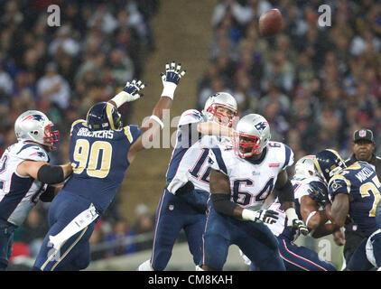 28.10.2012 London, England.  NE Patriots QB Tom Brady  during the NFL International Series 2012 game between The - Stock Photo