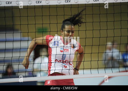 Sopot, Poland 30th, October 2012 . 2013 CEV Volleyball Champions League game is Sopot. Flavia Cristina Goncalves - Stock Photo