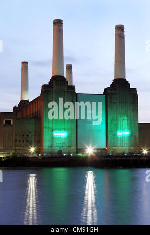 Battersea Power Station was iluminated for the Specsavers Spectacle Wearer of the Year Awards 2012. - Stock Photo
