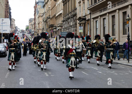 30 June 2012. Armed Forces Day. Glasgow, Scotland, UK, Combined forces parading in West George Street, Glasgow, - Stock Photo