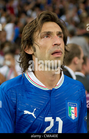 Andrea Pirlo (ITA), JULY 1, 2012 - Football / Soccer : Andrea Pirlo of Italy looks dejected after the UEFA EURO - Stock Photo