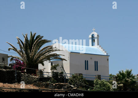 July 1, 2012 - Kythnos Island, Cyclades, Greece - Traditional Cycladic Chapel in Kythnos island Cyclades Greece. - Stock Photo