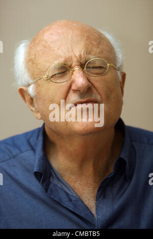 July 9, 2012 - St. Petersburg, Russia - July 09,2012. Pictured: French composer Vladimir Cosma at the press conference - Stock Photo