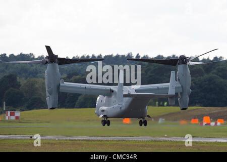 15.07.2012. Farnborough Airport, Hampshire, England. The Farnborough International Airshow 2012 US Marine Corps - Stock Photo