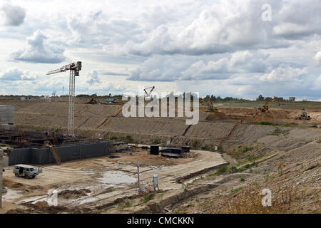 July 13, 2012 - Russia - About 2 years ago Russia started construction of the Baltic Nuclear Power Plant 13 kilometers - Stock Photo