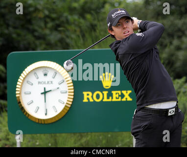 19.07.12 Lytham & St Annes, England. Northern Ireland's Rory McIlroy in action during the first round of The - Stock Photo