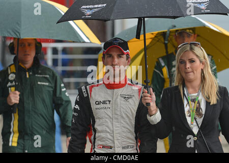 21.07.2012. Hoceknheim, Germany.  German Formula One driver Timo Glock of Marussia walks through paddock after the - Stock Photo