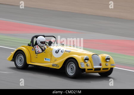 21st July 2012, Silverstone, UK Former footballer Steve Bull takes part in qualifying, driving a Morgan Lightweight, - Stock Photo