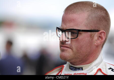 21st July 2012, Silverstone, UK. Celebrity chef Heston Blumenthal after qualifying for the Silverstone Classic Celebrity - Stock Photo