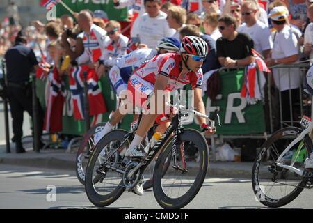 Tour de France 2012, stage 20.  Rambouillet to Paris. 22nd July 2012. Luca Paolini of Katusha - Stock Photo