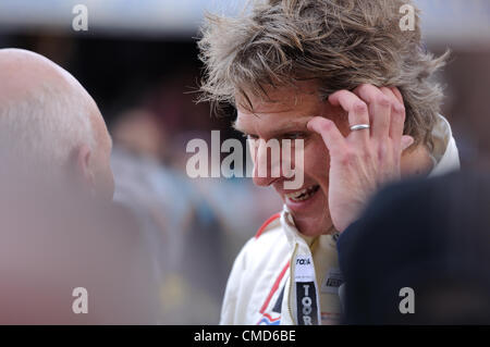 21st July 2012, Silverstone, UK.  Former British number one tennis player Andrew Castle after the Silverstone Classic - Stock Photo