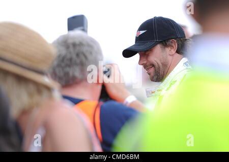 21st July 2012, Silverstone, UK. Jamiroquai front man Jay Kay after the Silverstone Classic Celebrity Race.  He - Stock Photo