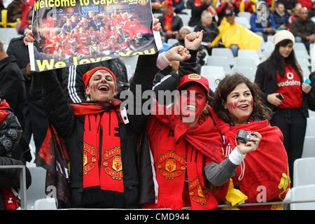 CAPE TOWN, SOUTH AFRICA - JULY 21, Fans during the MTN Football Invitational match between Ajax Cape Town and Manchester - Stock Photo