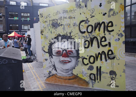 July 21, 2012 - London, UK - The 2012 Whitecross Street Party titled ''Rise of the non-conformists''  that echoed - Stock Photo