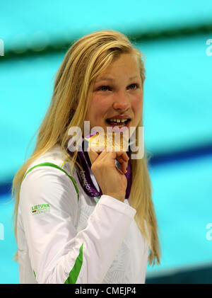 RUTA MEILUTYTE WINS GOLD LITHUANIA STRATFORD ENGLAND 30 July 2012 - Stock Photo
