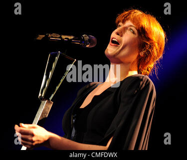 August 2, 2012 - Toronto, Canada -  English Indie rock band 'Florence + The Machine' performs at the Molson Canadian - Stock Photo