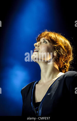 Aug. 2, 2012 - Toronto, Ontario, Canada - FLORENCE WELCH of English indie rock band ''Florence + The Machine'' perfomed - Stock Photo