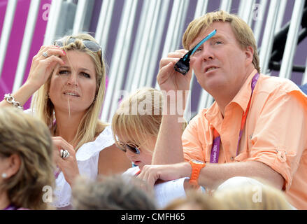 03.08.2012. London England.  Prince Willem-Alexander of the Netherlands and his wife Maxima during the London 2012 - Stock Photo