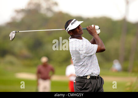 10th Aug 2012. 2012 August 10 | Friday: Vijay Singh (FJI) Lautoka Fiji on the 16th tee during the second round of - Stock Photo