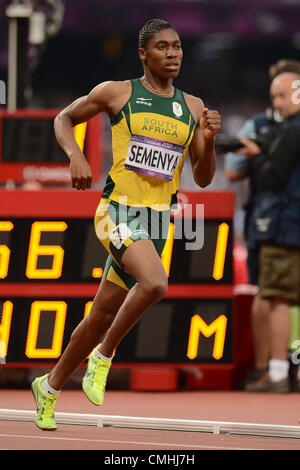 LONDON, ENGLAND - AUGUST 11, Caster Semenya of South Africa during the evening session of athletics at the Olympic - Stock Photo