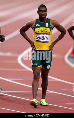 CASTER SEMENYA SOUTH AFRICA LONDON 2012 OLYMPIC GAMES, WOMENS 800M FINAL STRATFORD, LONDON, ENGLAND 11 August 2012 - Stock Photo