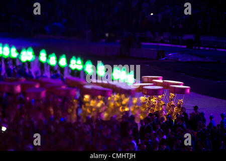 Aug. 12, 2012 - London, England, United Kingdom - Brazil performs in the Closing Ceremony during the London Olympics - Stock Photo