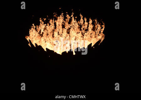LONDON, ENGLAND - AUGUST 12,  during the closing ceremony of the London 2012 Olympic Games at the Olympic Park stadium, - Stock Photo