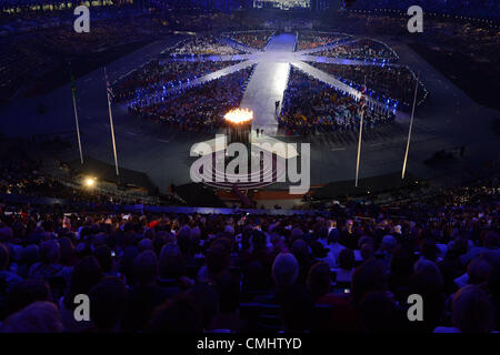 LONDON, ENGLAND - AUGUST 12, a general view during the closing ceremony of the London 2012 Olympic Games at the - Stock Photo