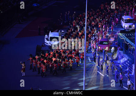 LONDON, ENGLAND - AUGUST 12, the military march during the closing ceremony of the London 2012 Olympic Games at - Stock Photo