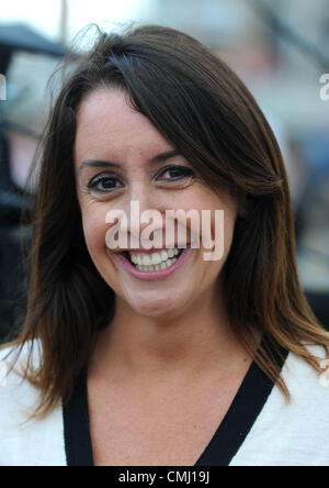The One Show filming in Weymouth, Dorset, UK Presenter Lucy Siegle 13th August, 2012 PICTURE: DORSET MEDIA SERVICE - Stock Photo