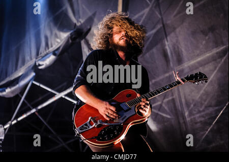 Aug. 15, 2012 - Toronto, Ontario, Canada - JIM JAMES of American psychedelic rock band 'My Morning Jacket' performs - Stock Photo