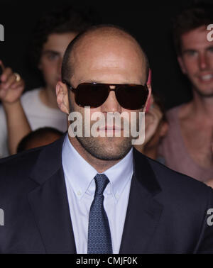 Aug. 15, 2012 - Hollywood, California, U.S. - Actor JASON STATHAM arrives for the premiere of the film 'Expendables - Stock Photo