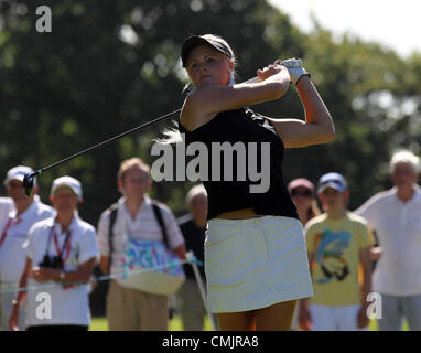 Denham, Greater London, UK. August 18th, 2012. Scotland's Carly Booth in action during the third and final round - Stock Photo
