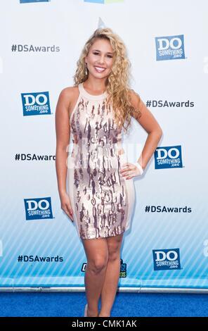 Haley Reinhart at arrivals for VH1 Do Something Awards - ARRIVALS, Barker Hangar, Santa Monica, CA August 19, 2012. - Stock Photo