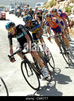 Alberto Contador, Team Tinkoff-Saxo, on his right Vincenco ...