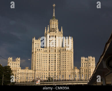 Aug. 12, 2012 - Moscow, Russia - Stalinist architecture (Stalin's Empire style or Stalin's Neo-renaissance), also - Stock Photo