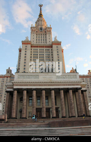 May 26, 2012 - Moscow, Russia - Stalinist architecture (Stalin's Empire style or Stalin's Neo-renaissance), also - Stock Photo