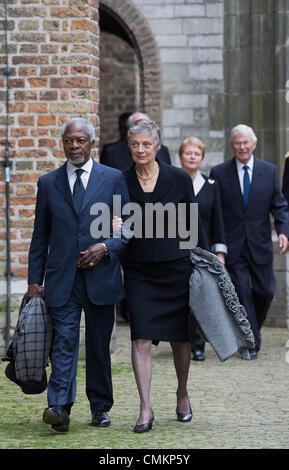 Delft, The Netherlands, for the memorial of Prince Friso. 02nd Nov, 2013. Former UN Secretary General Kofi Annan - Stock Photo