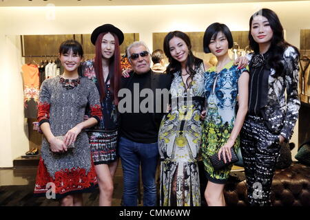 Beijing, China. 1st Nov, 2013. Roberto Cavalli attends party in Beijing, China on Friday November 1, 2013. © TopPhoto/Alamy - Stock Photo