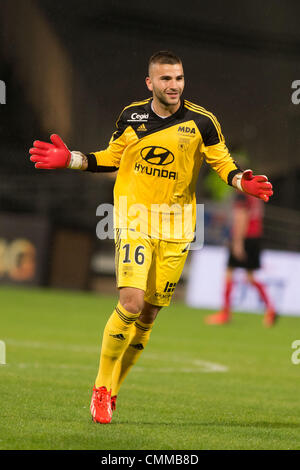 Lyon, France. 2nd Nov, 2013. Anthony Lopes (Lyon) Football / Soccer : French 'Ligue 1' match between Lyon 2-0 EA - Stock Photo